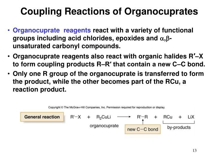 Coupling Reactions of Organocuprates