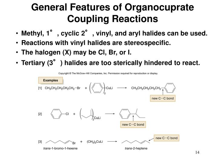 General Features of Organocuprate Coupling Reactions