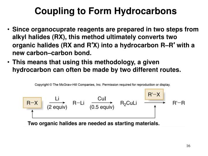 Coupling to Form Hydrocarbons