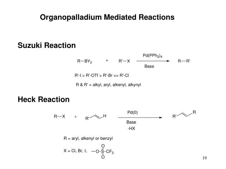 Organopalladium Mediated Reactions