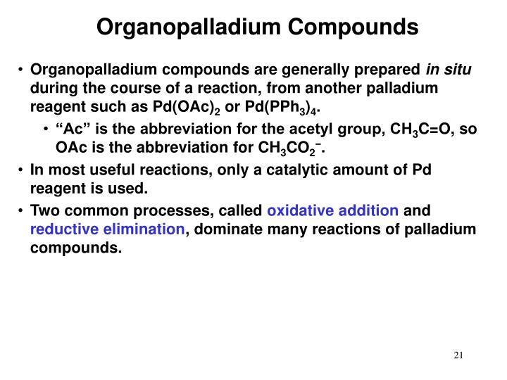 Organopalladium Compounds