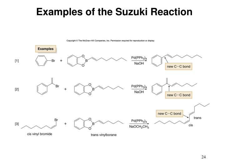 Examples of the Suzuki Reaction