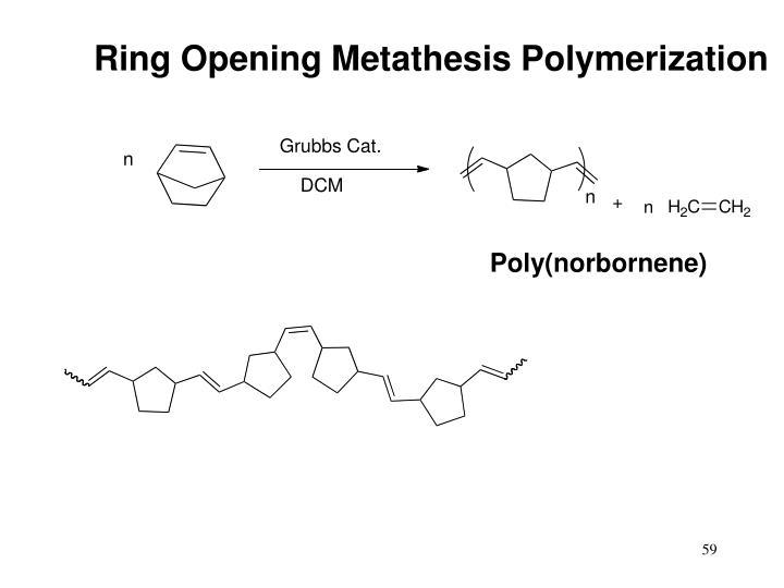 Ring Opening Metathesis Polymerization