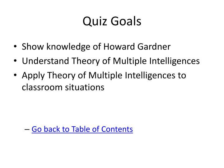 Quiz Goals