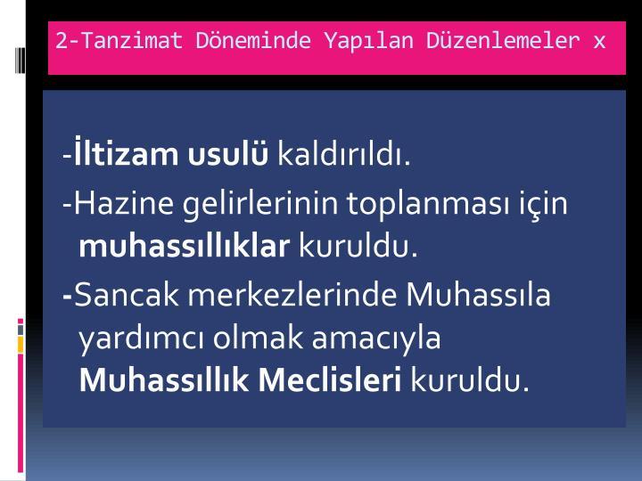 2-Tanzimat Dneminde Yaplan