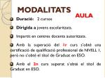 modalitats