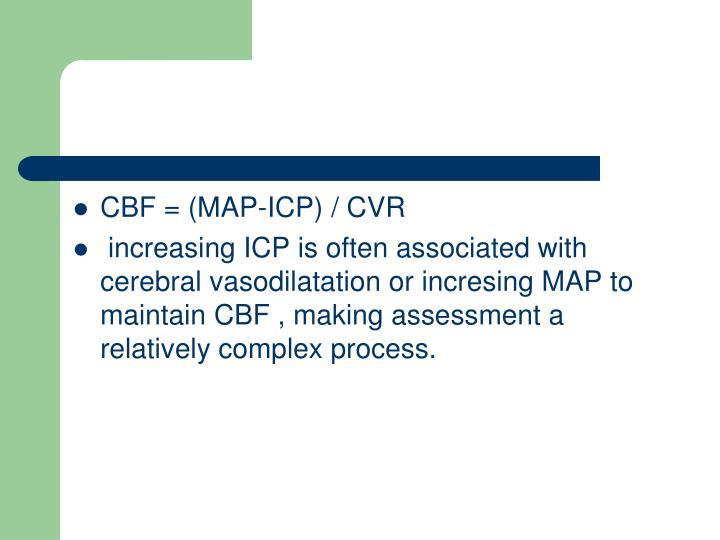 CBF = (MAP-ICP) / CVR