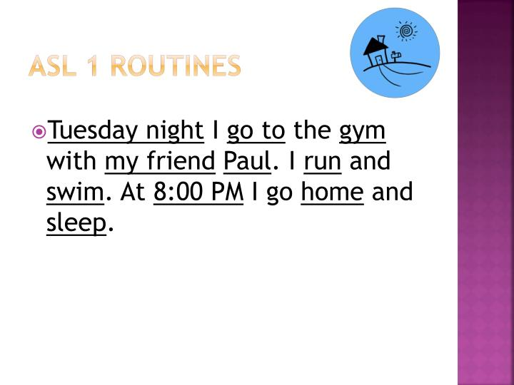 ASL 1 Routines