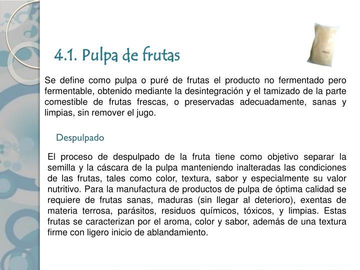 4.1. Pulpa de frutas