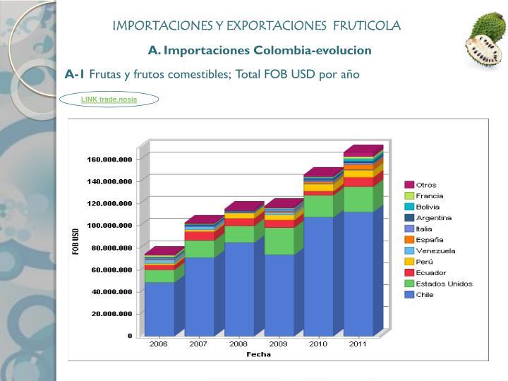 IMPORTACIONES Y EXPORTACIONES  FRUTICOLA