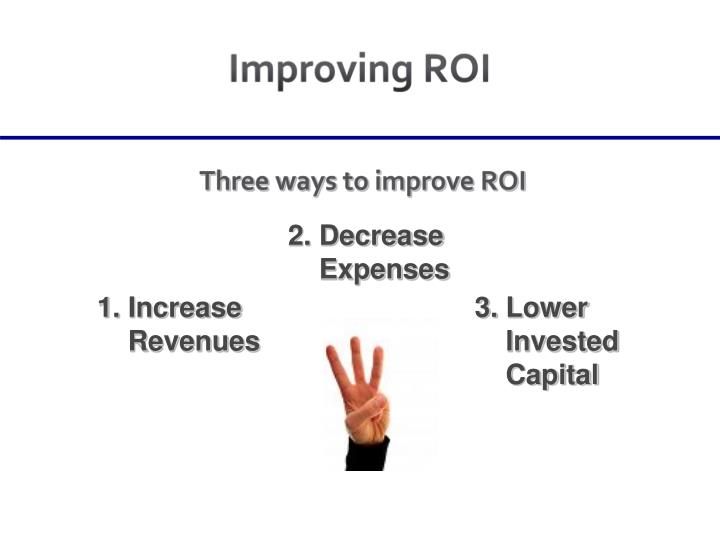 Improving ROI