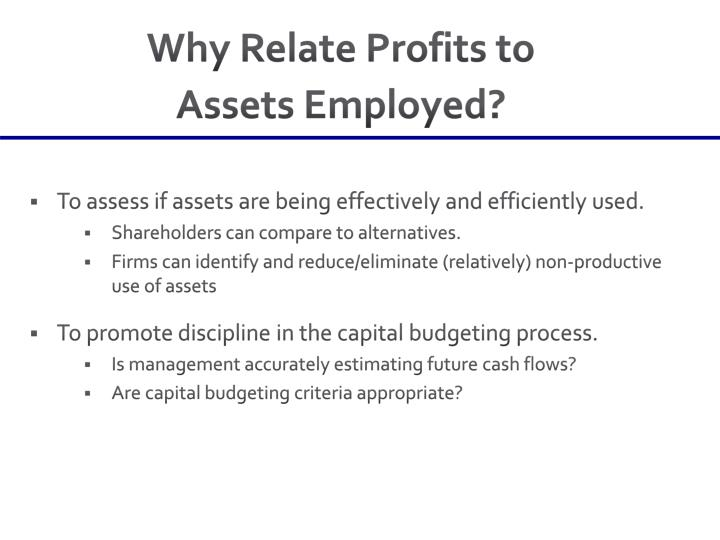 Why Relate Profits to