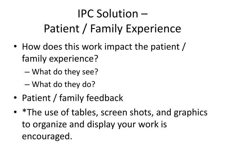 IPC Solution –