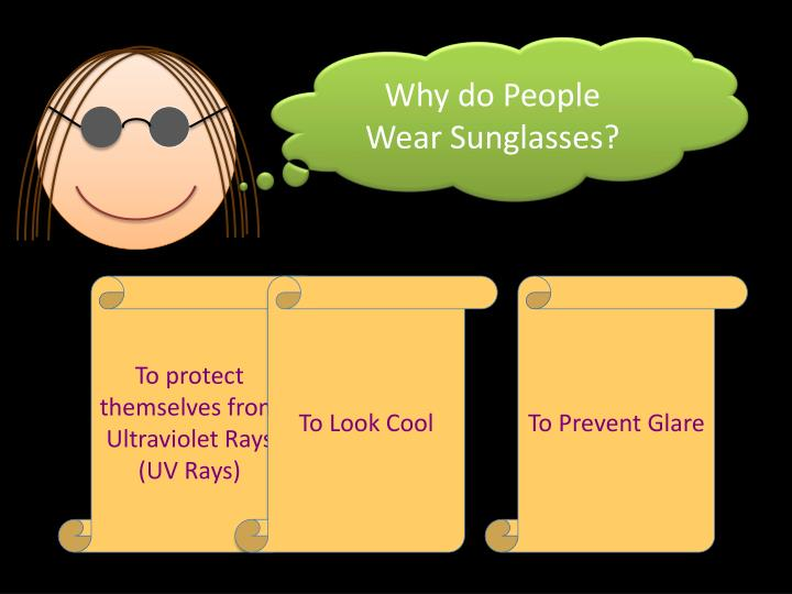 Why do People Wear Sunglasses?
