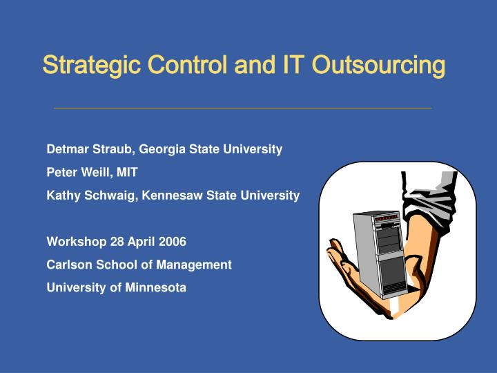 strategic control The department of strategic management (sgm) is home to four areas of study: entrepreneurship, strategic management, consulting, and international business.