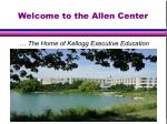welcome to the allen center