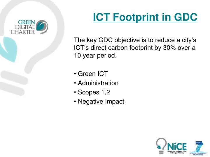 ICT Footprint in GDC