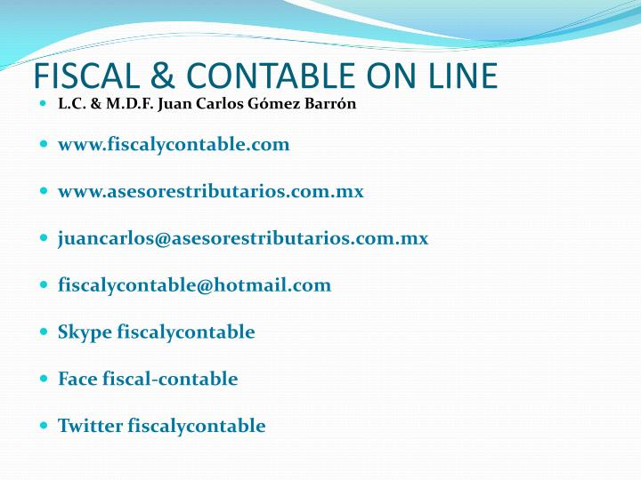 Fiscal contable on line