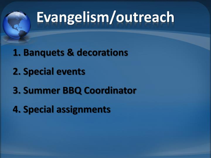 Evangelism/outreach