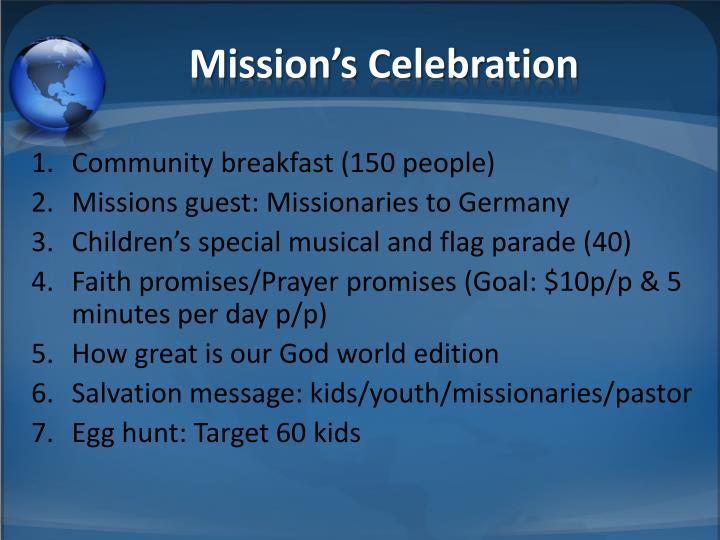 Mission's Celebration