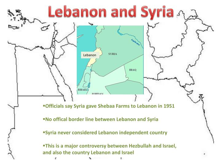 Lebanon and Syria