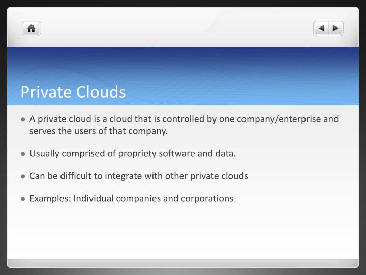 Private Clouds