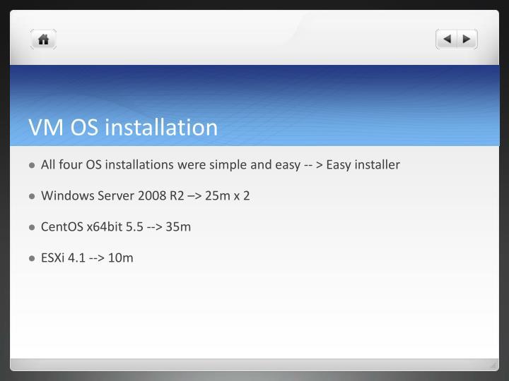 VM OS installation