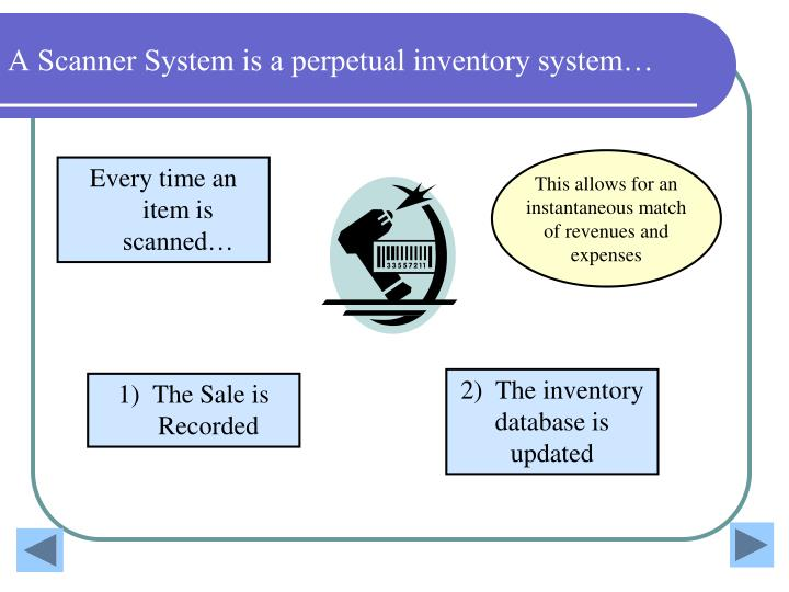 A Scanner System is a perpetual inventory system…