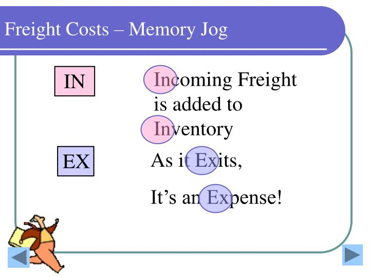 Freight Costs – Memory Jog