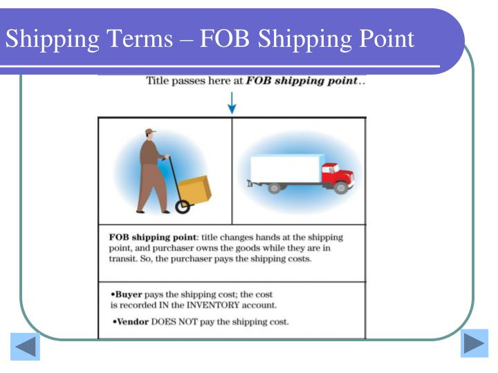 Shipping Terms – FOB Shipping Point