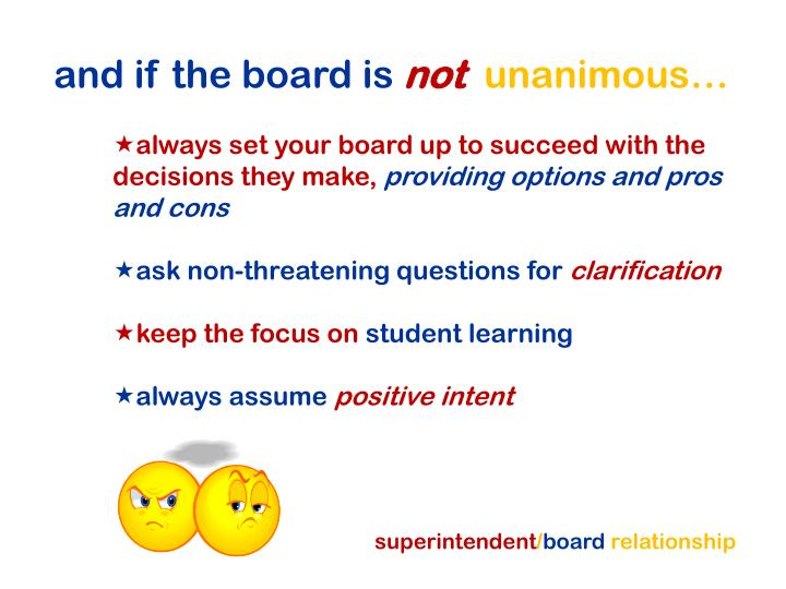 and if the board is