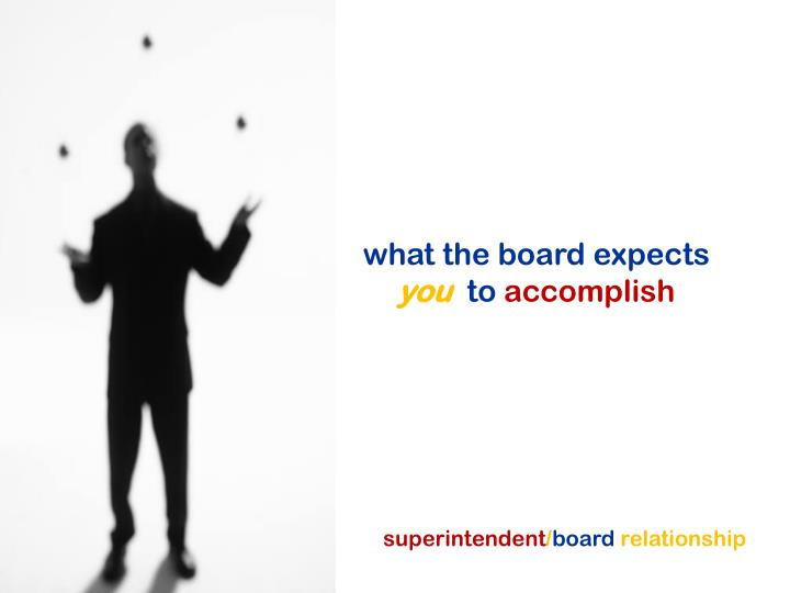 what the board expects