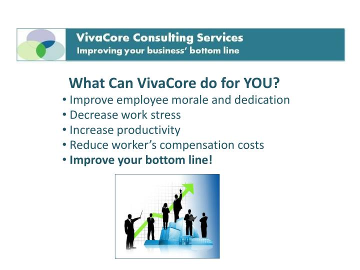 What Can VivaCore do for YOU?