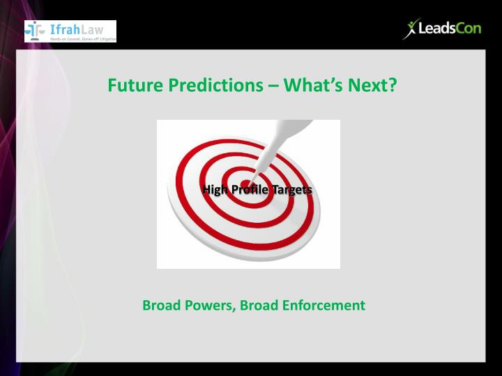 Future Predictions – What's Next?