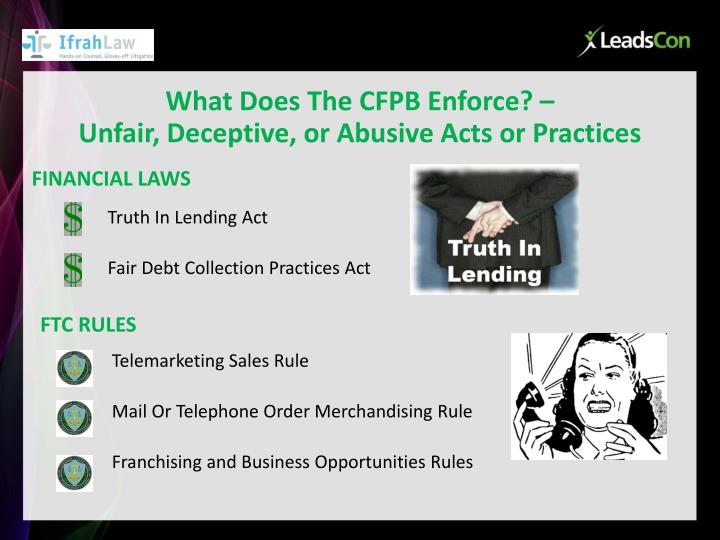 What Does The CFPB Enforce? –