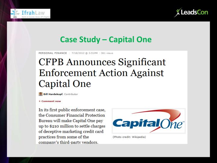 Case Study – Capital One