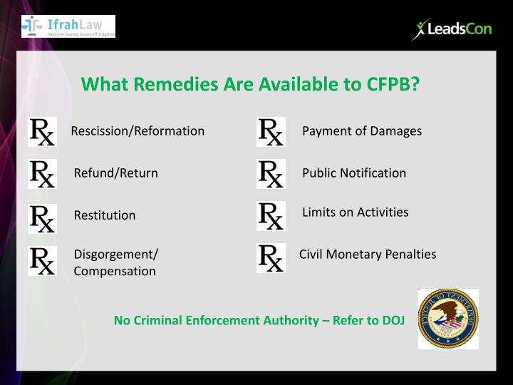What Remedies Are Available to CFPB?