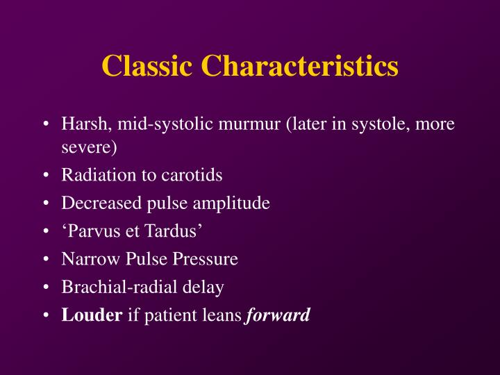 Classic Characteristics