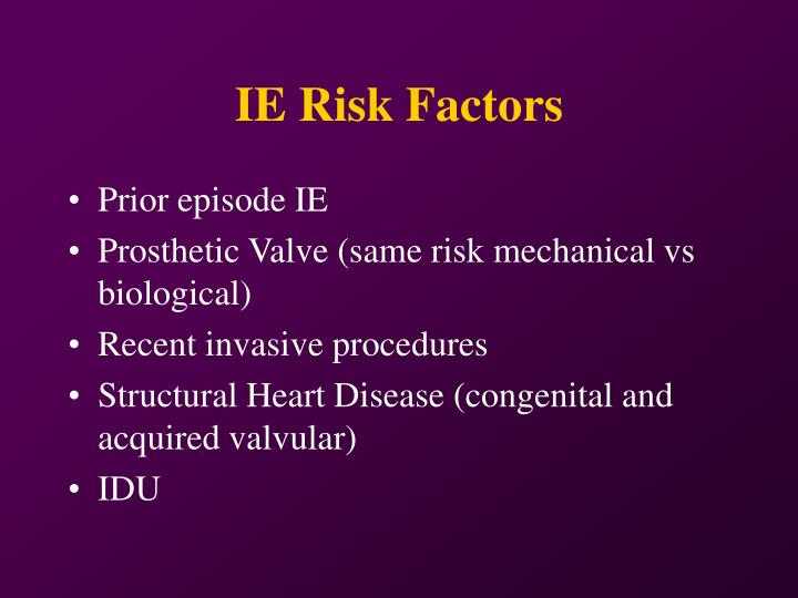 IE Risk Factors