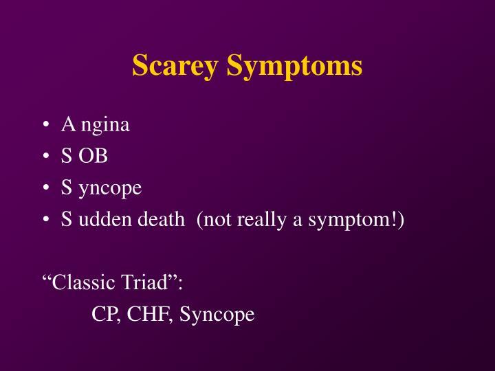 Scarey Symptoms