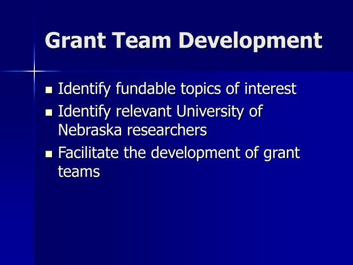 Grant Team Development