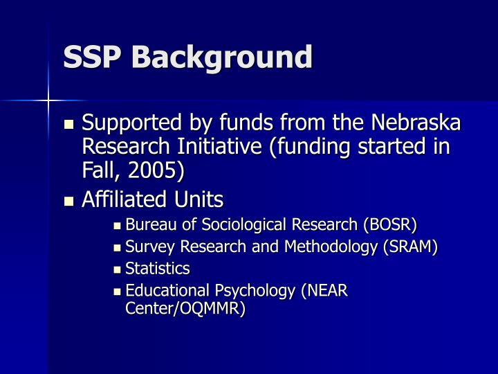 SSP Background