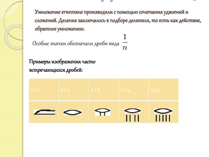 Умножение египтяне