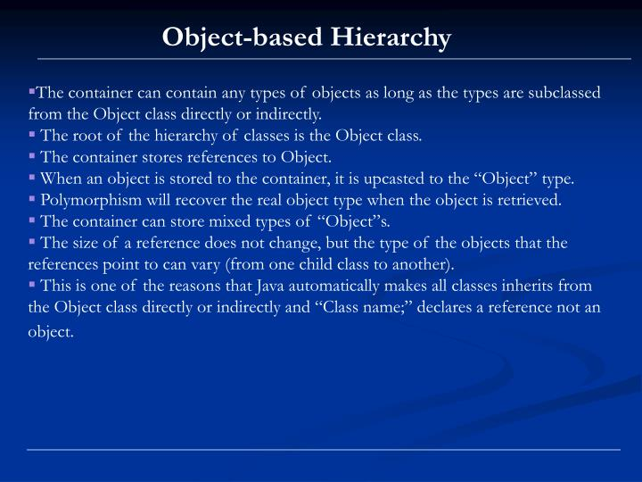 Object-based Hierarchy