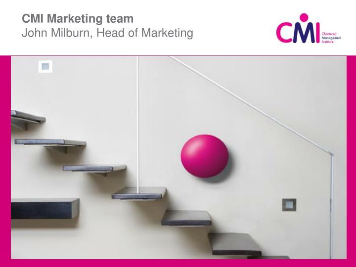 CMI Marketing team
