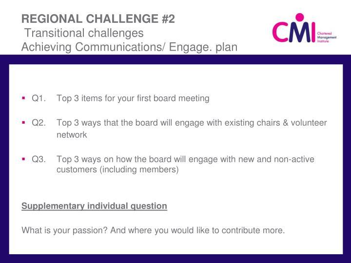 REGIONAL CHALLENGE #2