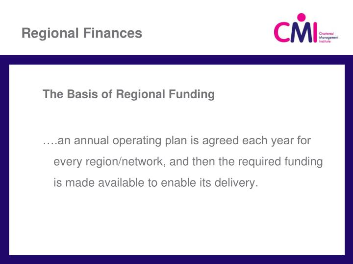Regional Finances