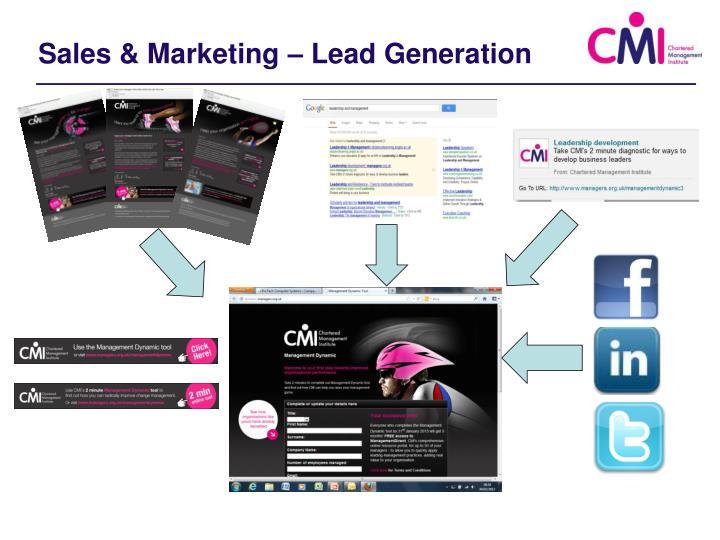 Sales & Marketing – Lead Generation