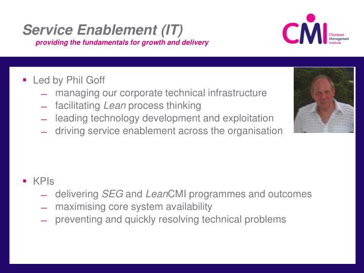 Service Enablement (IT)