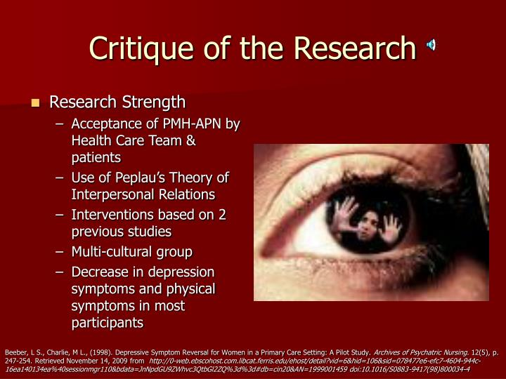 Critique of the Research